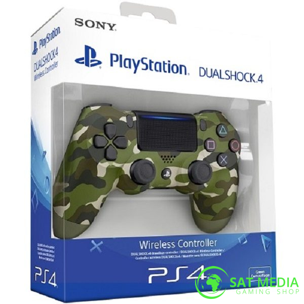 PS4 DualShock Green Camo 01