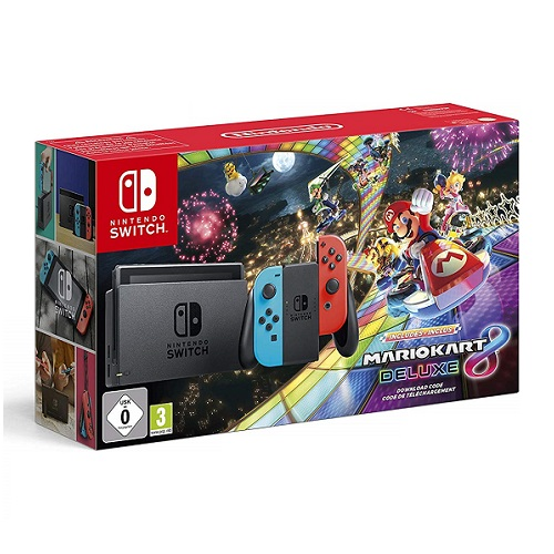 Nintendo-Switch-Red-Blue-Mariokart 8 deluxe