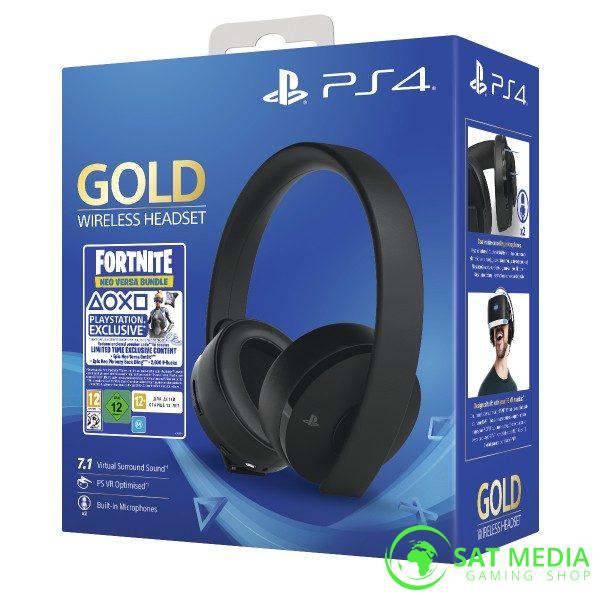 PS4 Gold Wireless Headset Box 600×600