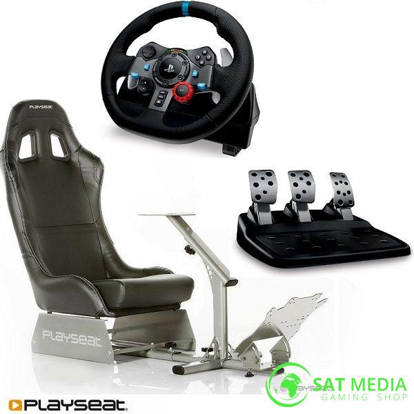 playseat-evolution-black-komplet-stolica + volan G29 satmedia 600×600