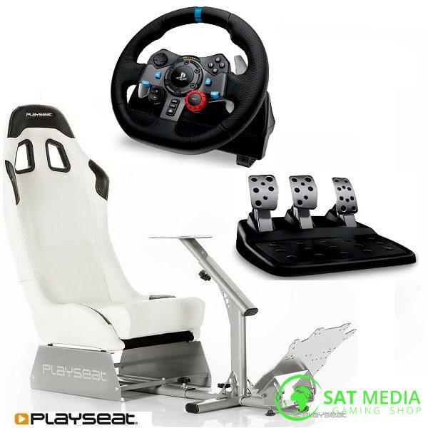 playseat-evolution-white-stolica-za-igranje+ volan G29 satmedia 600×600