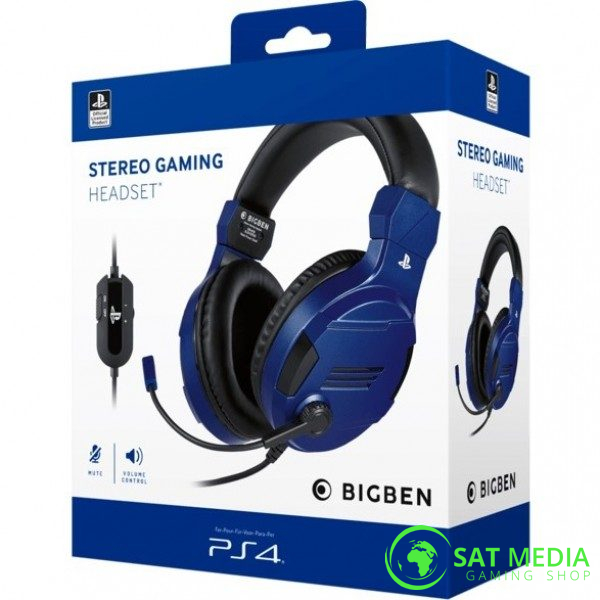 PS4 BigBen Stereo Gaming Headset-V3 Blue 0 600×600