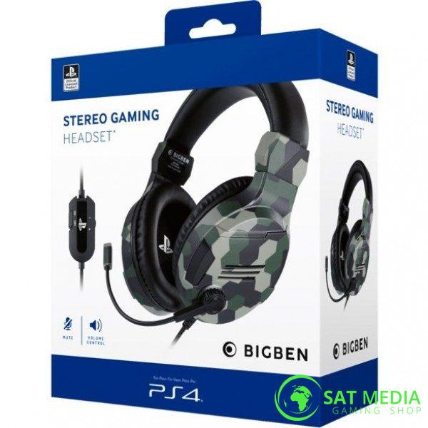 PS4 BigBen Stereo Gaming Headset-V3 Camo Green 600×600
