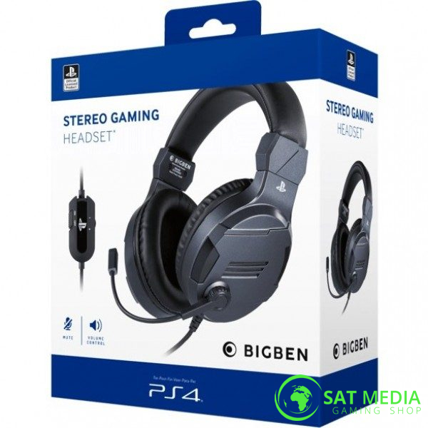 PS4 BigBen Stereo Gaming Headset-V3 Titanium 0 600×600