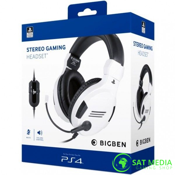 PS4 BigBen Stereo Gaming Headset-V3 White 600×600