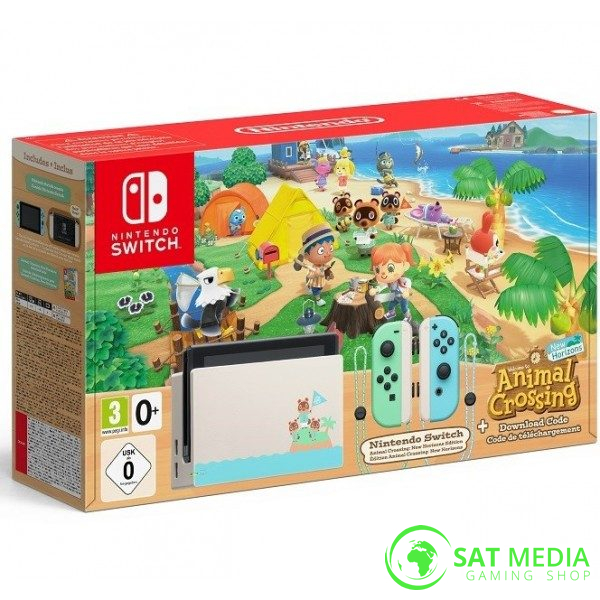 NintendoSwitchConsoleGreenBlueHADAnimalCrossingNewHorizonsBundle