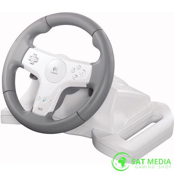 Logitech Speed Force Wireless Steering Wheel Nintendo Wii 8 600X600