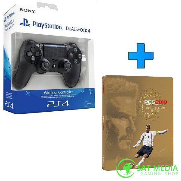 PS4 DualShock crni + PES 2019 D.B 600X600