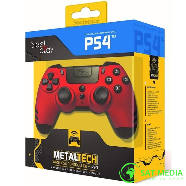 PS4 Controller Steelplay wirelless red 600×600