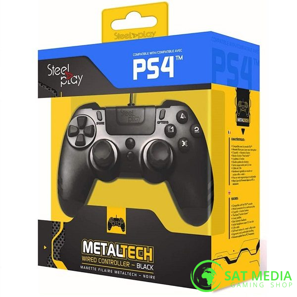 PS4 Steelplay wired controller crni 1 600×600