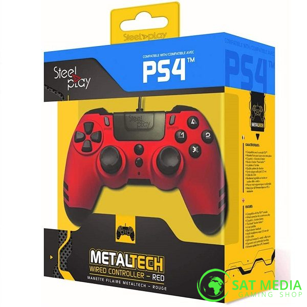 PS4 Steelplay wired controller crveni 01 600×600